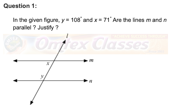 Practice Set 2.2,  Chapter 2 - Parallel Lines Mathematics Part II Solutions for Class 9 Math