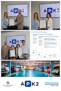 APK2 se certifica bajo ISO 9001 (Calidad), ISO 14001 (M. Ambiente) y OHSAS 18001 (Seguridad y Salud)