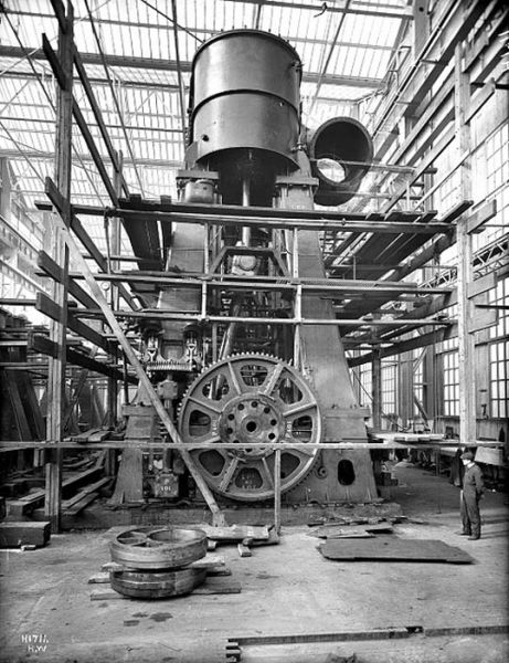 Titanic Construction Photos on Tesla Turbine