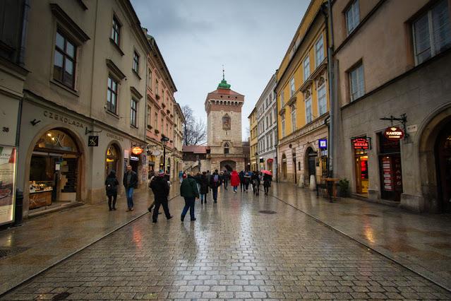Porta e ul Florianska-Cracovia