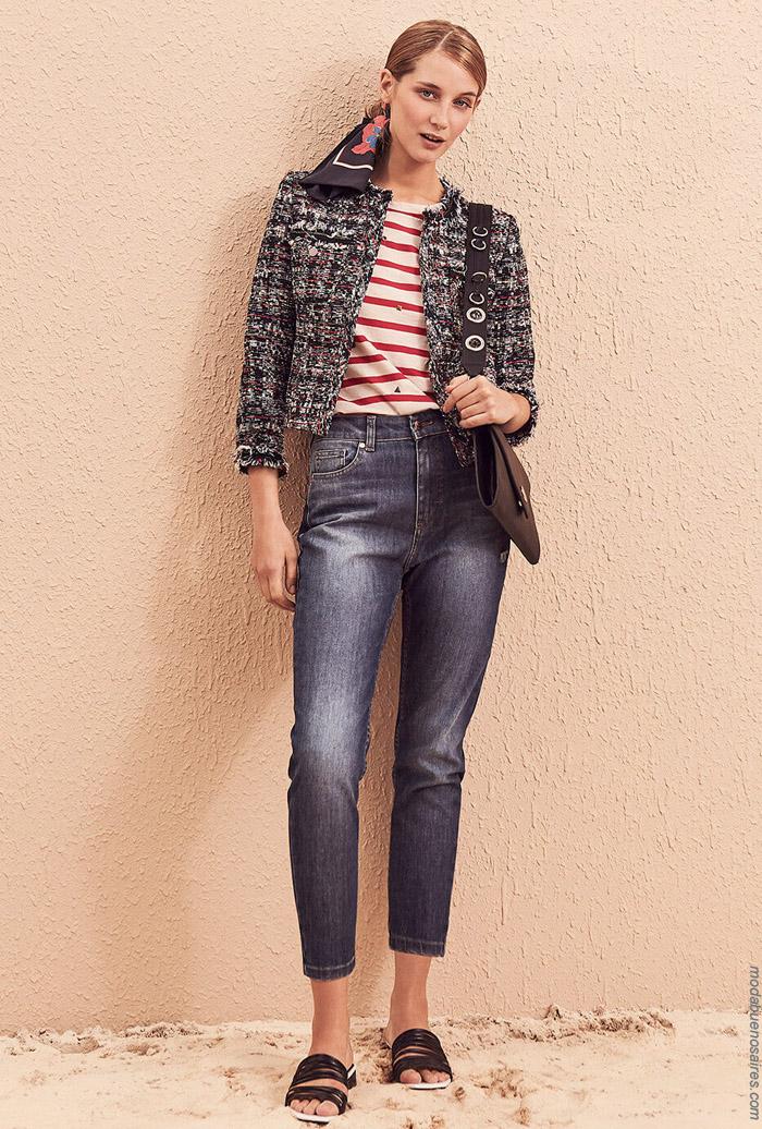 Abrigos primavera verano 2020. Moda jeans primavera verano 2020.