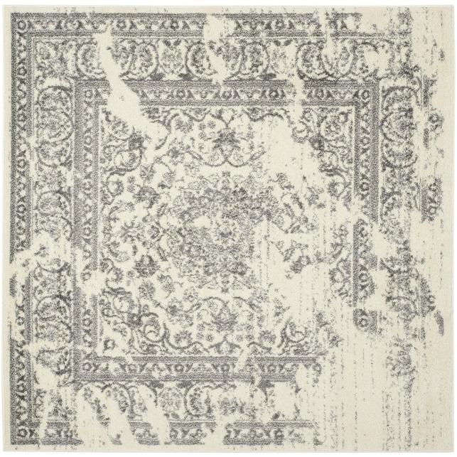 square rug with farmhouse boho style