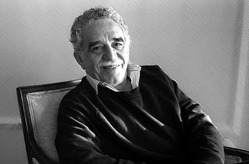 Gabriel García Márquez sentado en su sillon
