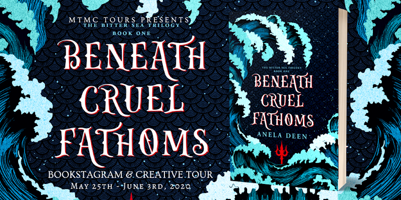 Blog Tour + Review + Book Aesthetic: Beneath Cruel Fathoms by Anela Deen