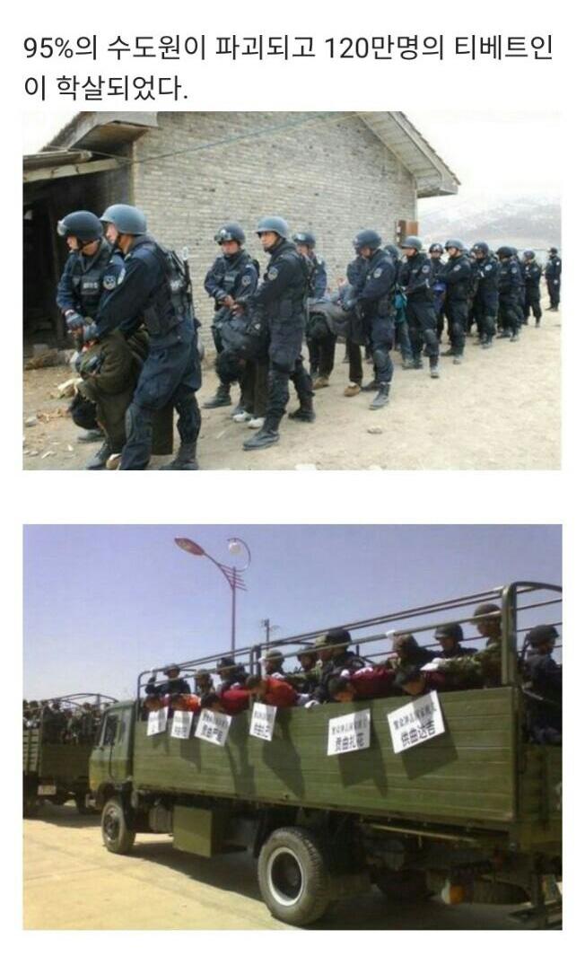 중국의 티베트인, 위구르인 대학살