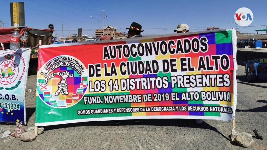 Varios grupos civiles en Bolivia mantienen bloqueados las carreteras del país, afectando el paso de camiones que llevan insumos médicos, según denuncian autoridades del gobierno / VOA