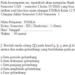 Soal-Ulangan-Ujian-UAS-FISIKA-kelas-12-XII-SMA-Semester-1
