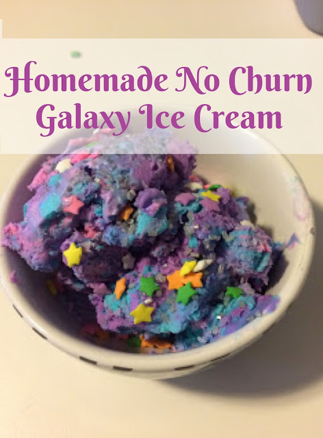 Homemade No Churn Vanilla Galaxy Ice Cream | My Name is Sara - mynameissarablog.blogspot.com