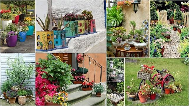 Ξεχωριστές διαμορφώσεις κήπου με φυτά-λουλούδια