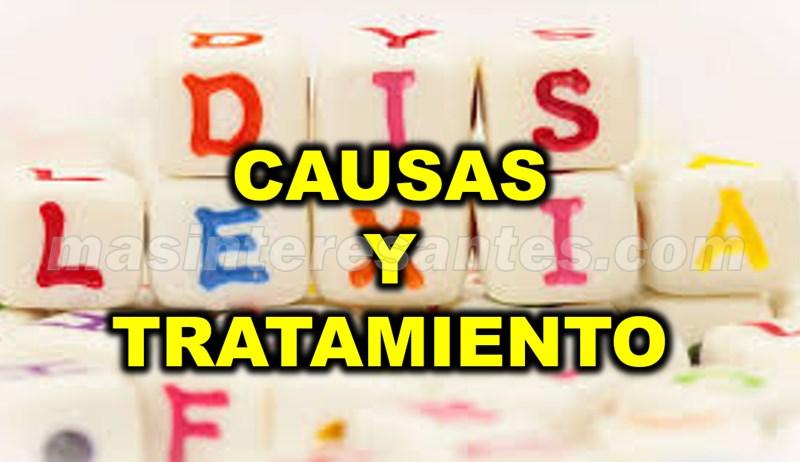 dislexia causas y tratamiento