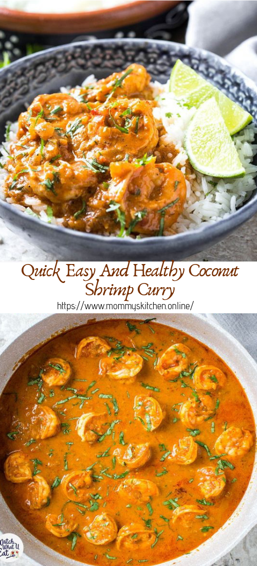 Quick Easy And Healthy Coconut Shrimp Curry #healthyfood #dietketo