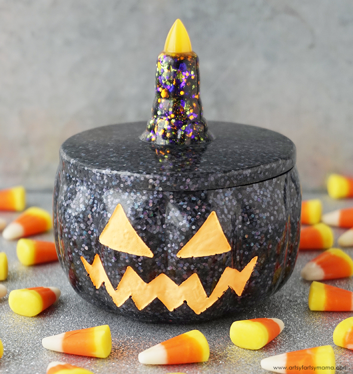 Resin Pumpkin Trinket Box