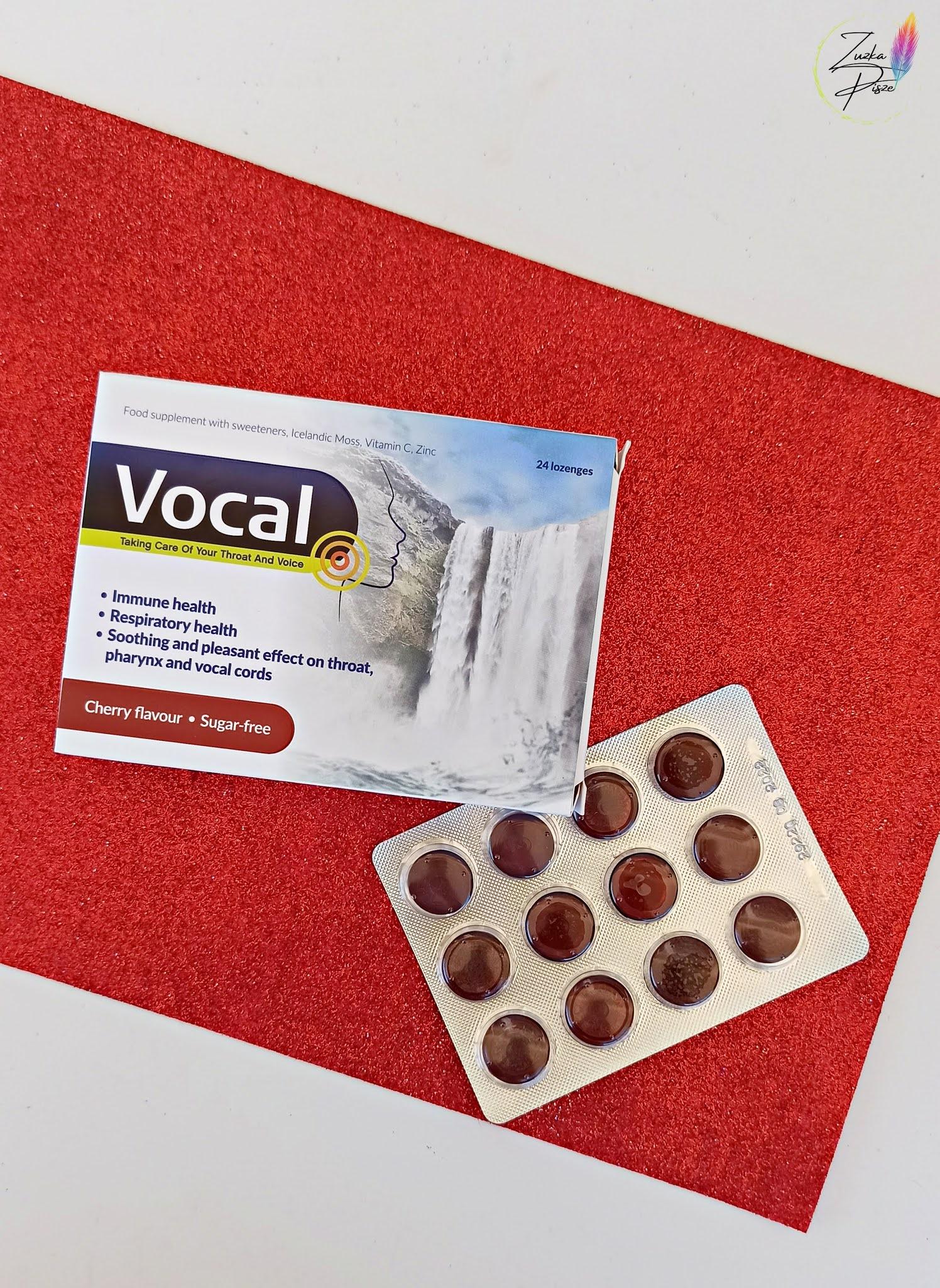 Na chrypkę i bolące gardło - VOCAL cherry flavour
