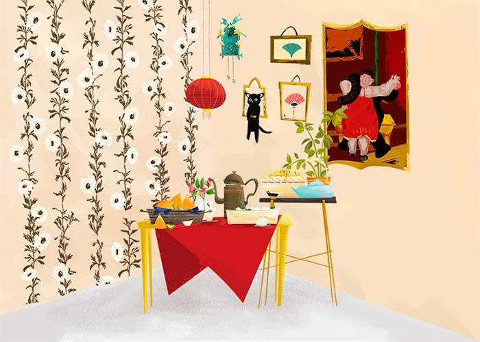 Ilustración, Knock Knock Barcelona de Patricia Hu