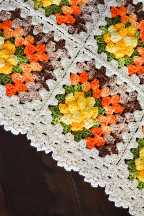 Crochet Mitered Granny Square Blanket - Free Pattern