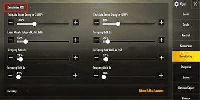 Cara Setting Control Aim dan Sensitivitas di PUBG Mobile