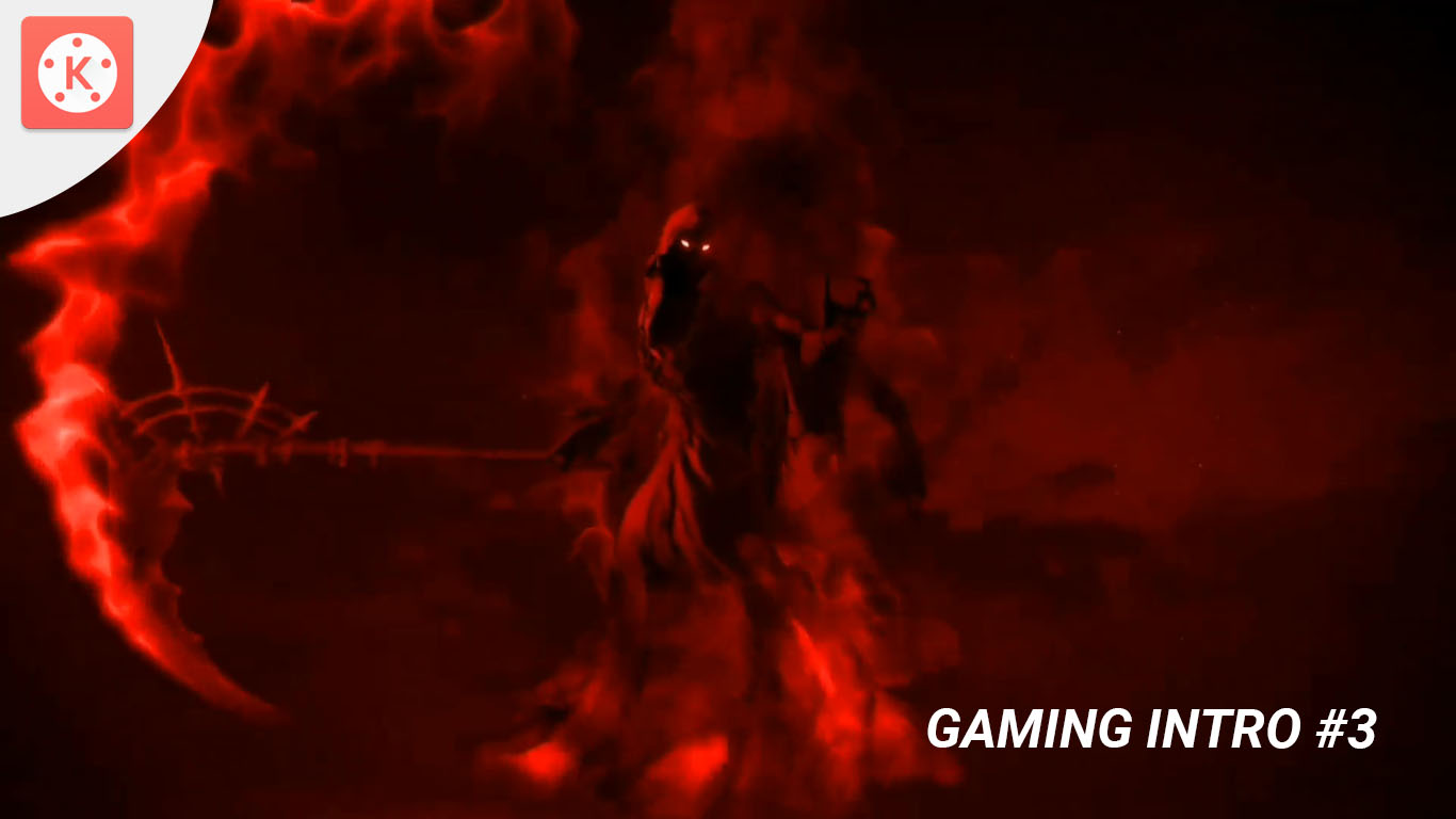 Ghost Hit Red Gaming Intro Template #3 (Kinemaster)