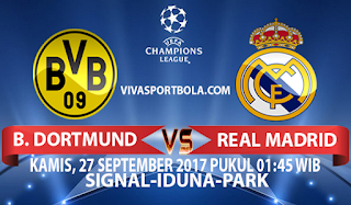Prediksi Borussia Dortmund vs Real Madrid 27 September 2017