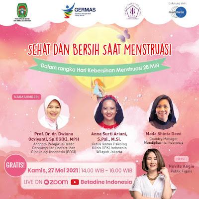 flyer webinar sehat dan bersih saat menstruasi