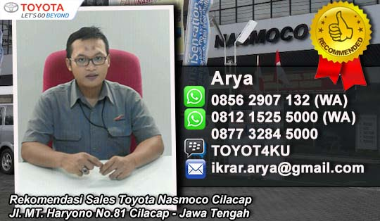 Rekomendasi Sales Mobil Toyota Nasmoco Cilacap, Jawa Tengah