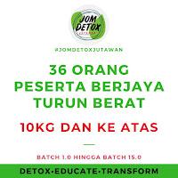Turun 10kg Dengan Program Jom Detox Jutawan