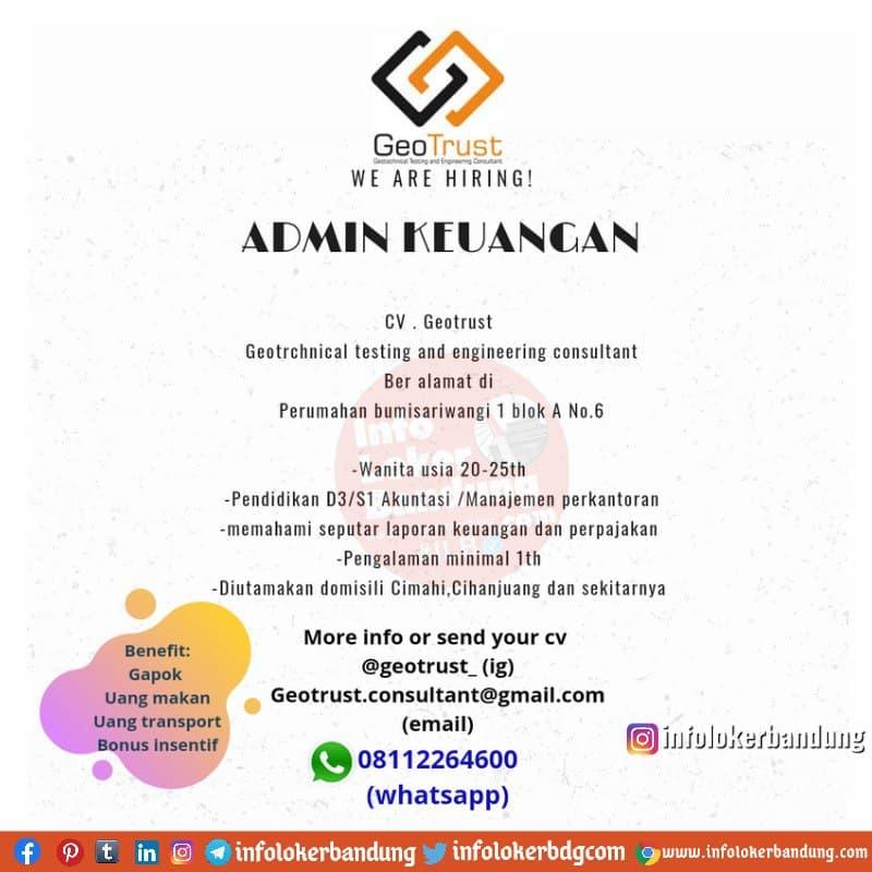 Lowongan Kerja Geotrust ( Geotachnical Testing and Engineering Consultant) Bandung Maret 2021