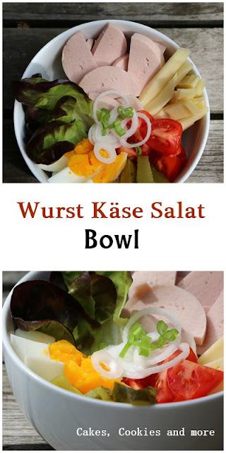 Wurst Käse Salat Bowl Rezept