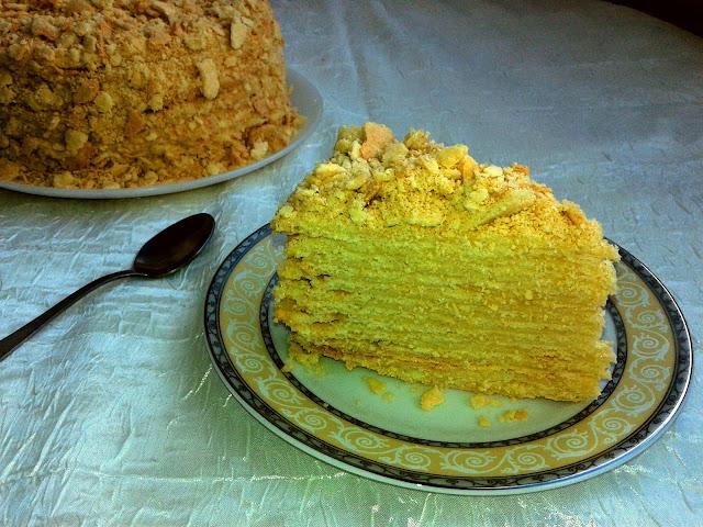 торт наполеон м'який