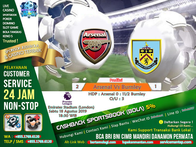 Prediksi Arsenal Vs Burnley - ituBola