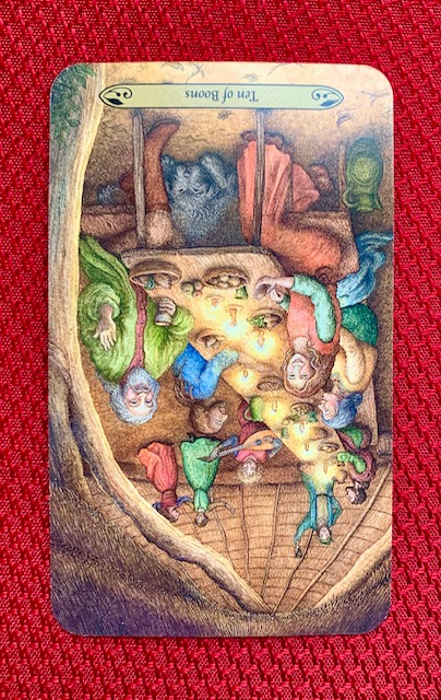 Forest-of-Enchantmant-Tarot-10-of-Boons-Pentacles-reversed--Mother-Tarot