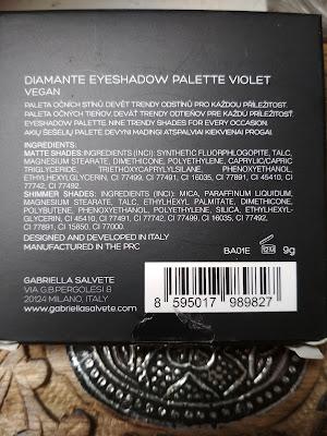 Gabriella Salvete Diamante paletka očných tieňov zloženie
