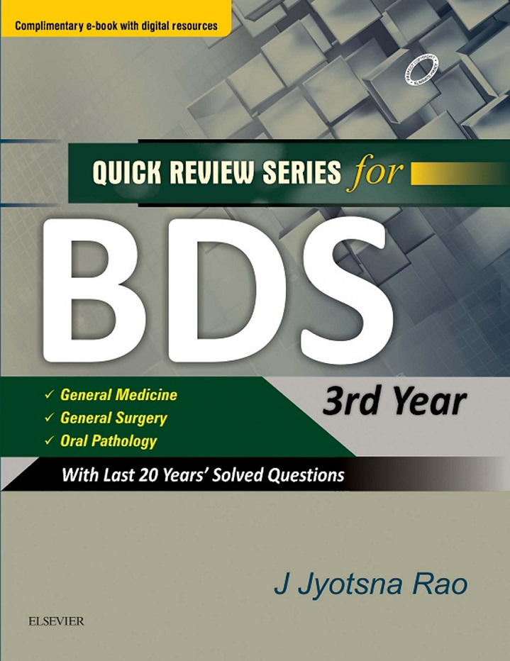 Quick Review Series for BDS 3rd Year Second Edition