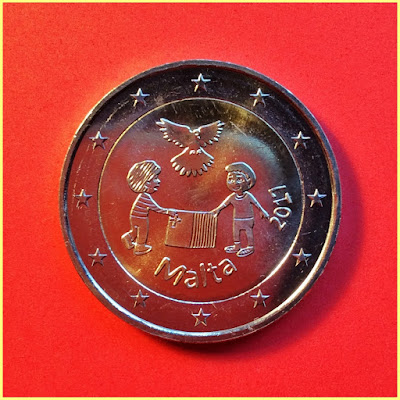 2 Euros Malta Paz
