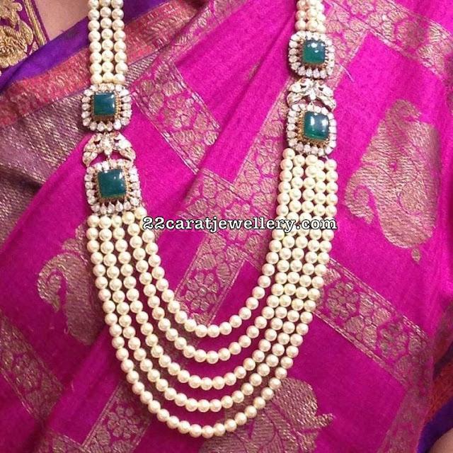 Pearls Haram Diamond Peacock Side Motifs