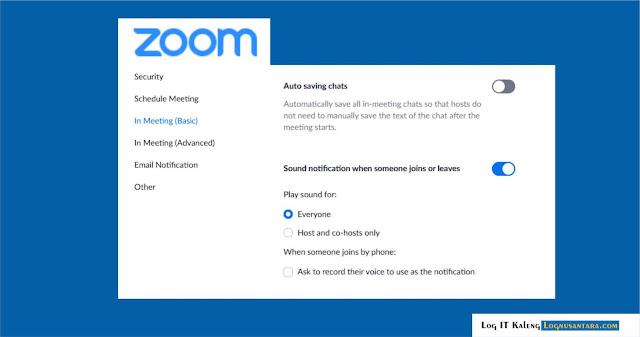 Cara Mengaktifkan atau Menonaktifkan Pemberitahuan Audio Zoom