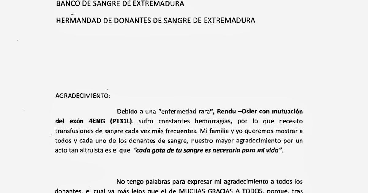 Banco De Sangre De Extremadura Agradecimiento A Todos Los Donantes