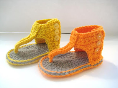 "schoenstricken.de | Babysandalen ""Stylo"" stricken"