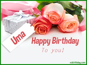 Happy Birthday Uma