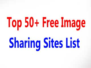Free Image Sharing Sites List