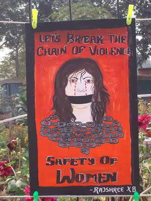 """Painting on the Theme """"Safety of Women"""""""