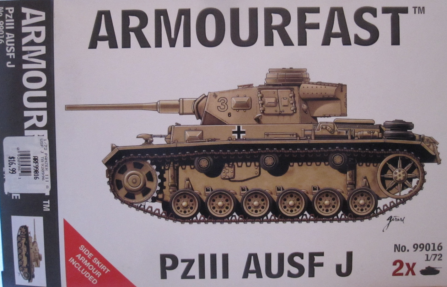 Armourfast 1//72 Pz J # 99016 Kpfw III Ausf