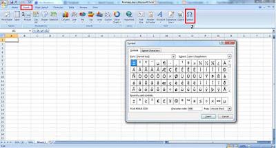 Memasukan Simbol di Microsoft Office
