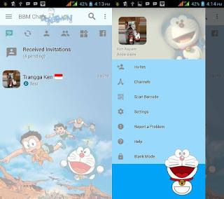 Download BBM Mod Doraemon Clone Apk Terbaru for Android