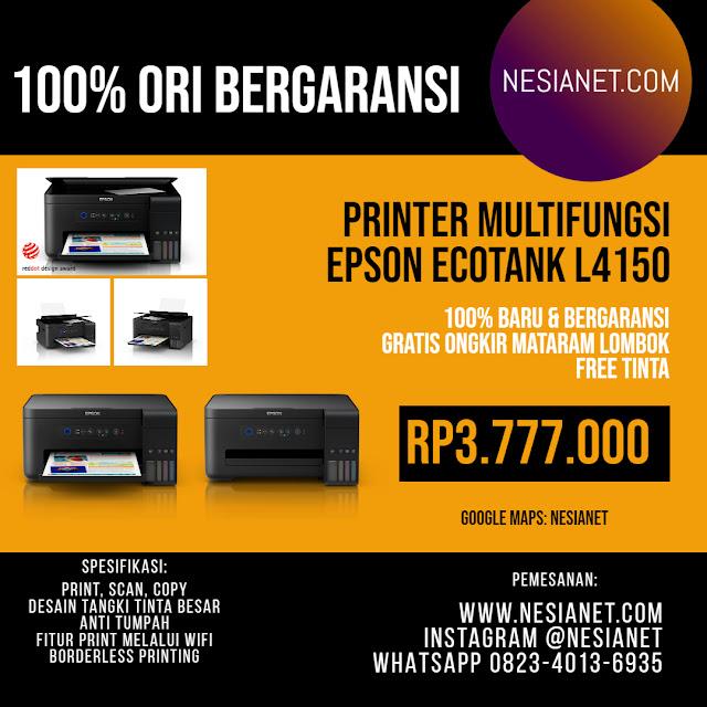 Jual Epson L4150 Wi-Fi All-in-One Ink Tank Printer Mataram Lombok