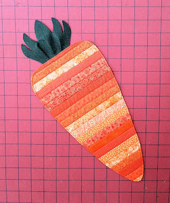 Carrot Table Runner, Easter Table Runner, Quilt as You Go