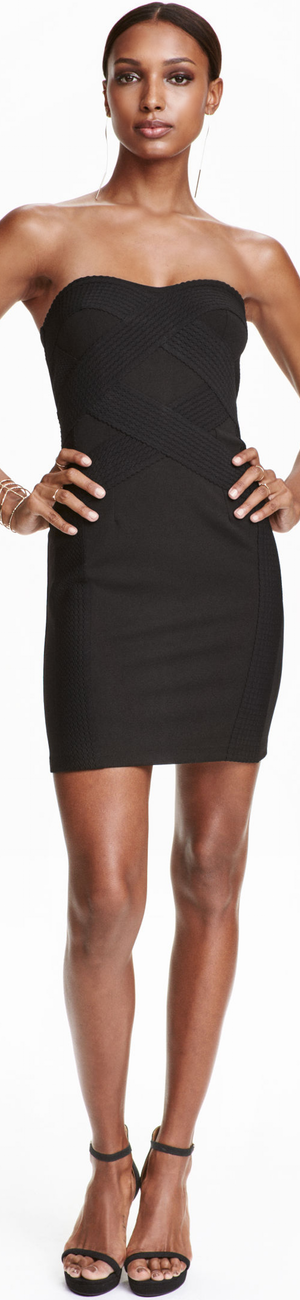 H&M Bandeau Dress in Black