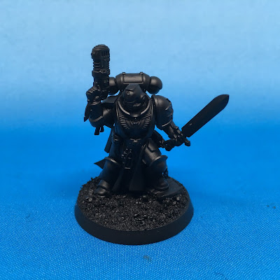 Dark Angels Primaris Lieutenant WIP Primed
