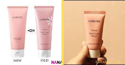 Laneige moist cream cleanser Sabun Cuci Muka Untuk Kulit Berminyak Dan Berflek Hitam