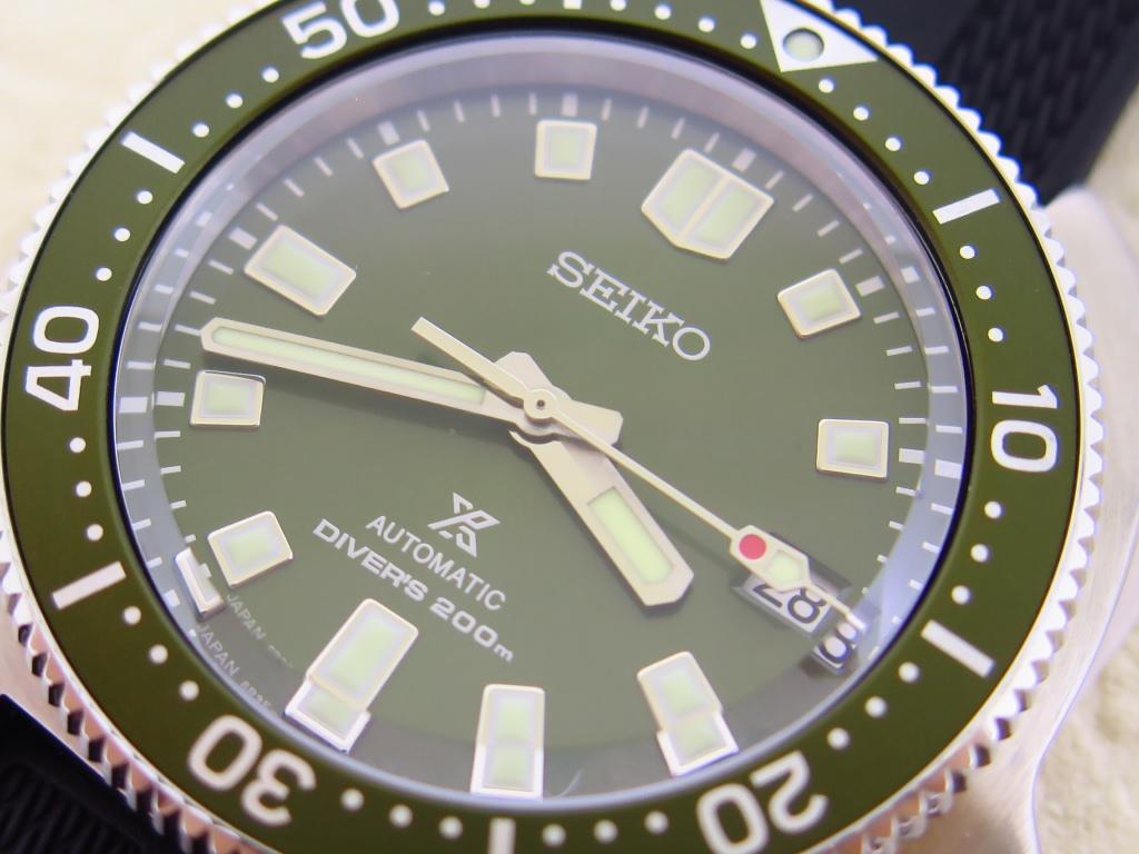 SEIKO DIVER PROSPEX SPB153J1 TURTLE DIVER AUTOMATIC DEEP GREEN DIAL BLACK RUBBER STRAP