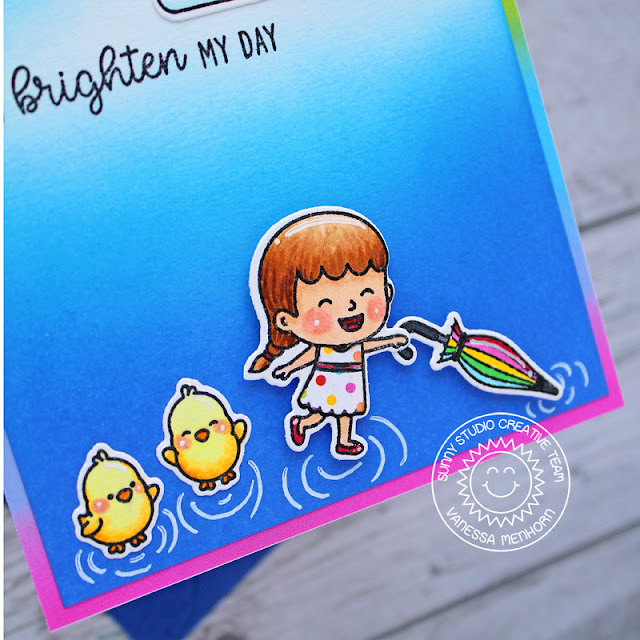 Sunny Studio Stamps: Spring Showers Chubby Bunny Spring Themed Card by Vanessa Menhorn